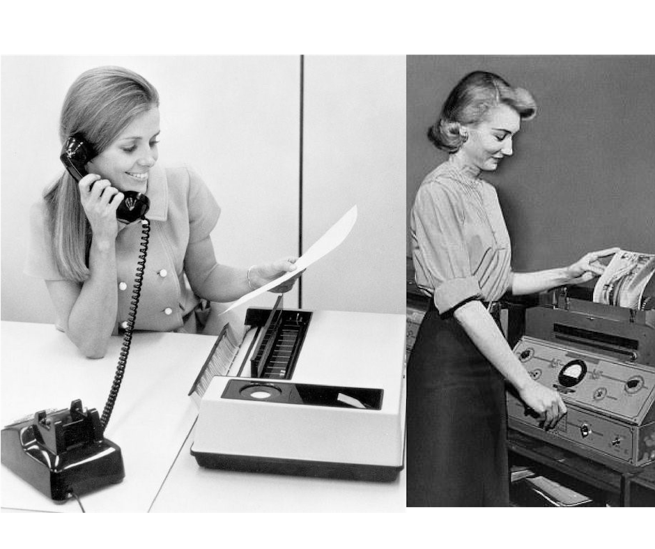 digital customer service vintage fax